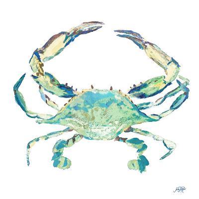 Sea Life in Blues II (crab)-Julie DeRice-Art Print