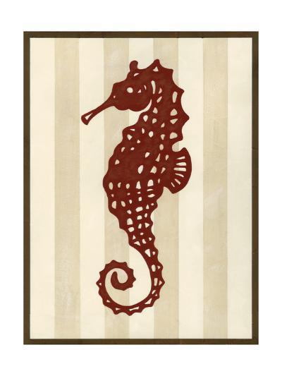 Sea Life Silhouette I-June Erica Vess-Art Print