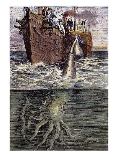 Sea Monster--Giclee Print