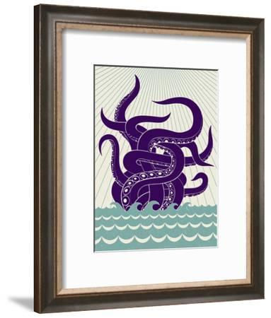 Sea Monster-Greg Mably-Framed Art Print