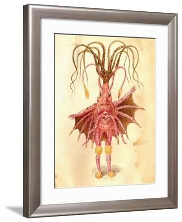 Sea Nettle 1873 'Missing Links' Parade Costume Design-Charles Briton-Framed Giclee Print