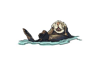 Sea Otter - Icon-Lantern Press-Art Print