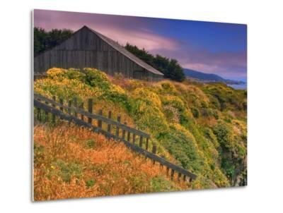 Sea Ranch Barn-Vincent James-Metal Print