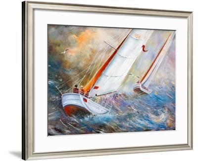 Sea Regatta At A Gale-balaikin2009-Framed Art Print