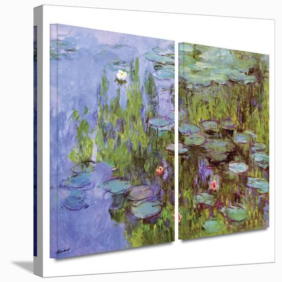 Sea Roses 2 piece gallery-wrapped canvas-Claude Monet-Gallery Wrapped Canvas Set