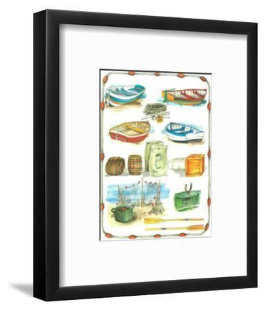Sea Sand and Sky II-Anton Denis-Framed Art Print