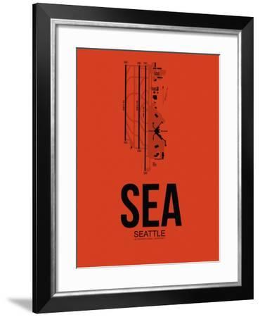 SEA Seattle Airport Orange-NaxArt-Framed Art Print