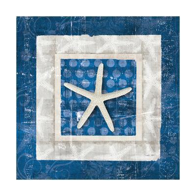 Sea Shell IV on Blue-Belinda Aldrich-Art Print