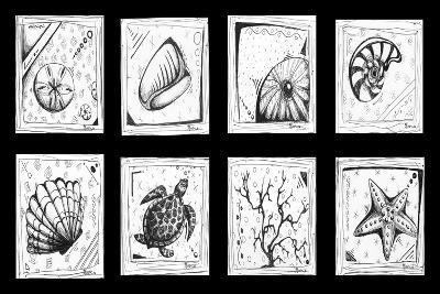 Sea Shells Beach-Megan Aroon Duncanson-Art Print