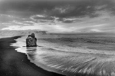 Sea Stack and Black Sand Beach Near Vik, Iceland-Chuck Haney-Photographic Print