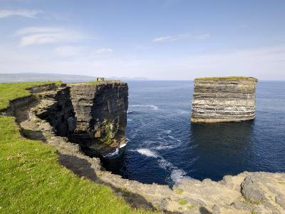 Sea Stack at Downpatrick Head, Near Ballycastle, County Mayo, Connacht, Republic of Ireland (Eire)-Gary Cook-Photographic Print