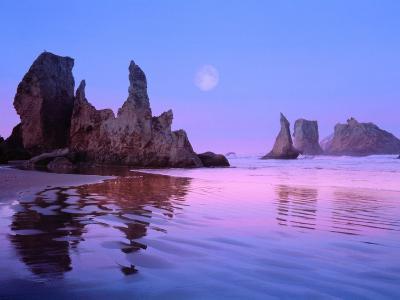 Sea Stacks and Beach-Cindy Kassab-Photographic Print
