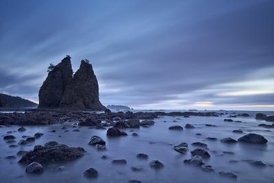 Sea Stacks and Rocks, Rialto Beach, Washington State, United States of America, North America-James-Photographic Print