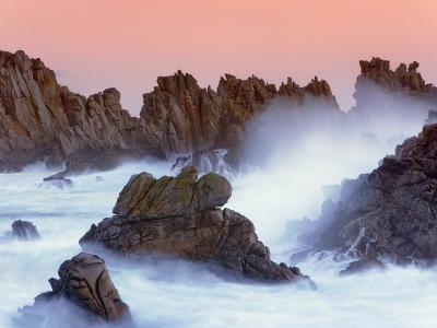 Sea stacks and spume at the Pointe de Creac'h-Frank Krahmer-Photographic Print