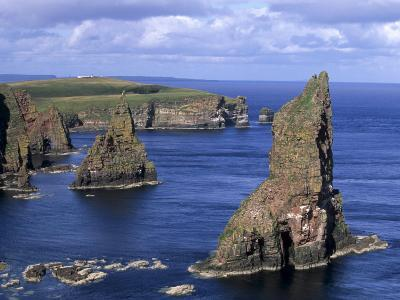 Sea Stacks at Duncansby Head, Near John O'Groats, North-West Tip of Scotland, Caithness, Scotland-Patrick Dieudonne-Photographic Print