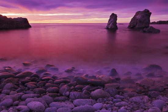 Sea Stacks at Dusk, Soberanes Point, Garrapata State Park, Big Sur, California, Usa-Russ Bishop-Photographic Print