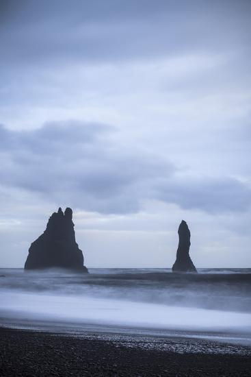 Sea Stacks At Reynisdrangar At Dusk. Vik. Iceland-Oscar Dominguez-Photographic Print