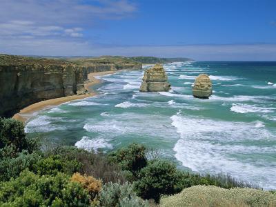 Sea Stacks at the Twelve Apostles on Rapidly Eroding Coastline, Victoria, Australia-Robert Francis-Photographic Print