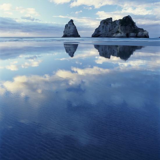 Sea Stacks in Ocean-Micha Pawlitzki-Photographic Print