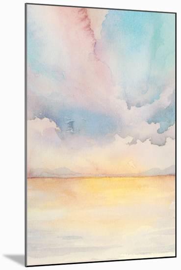 Sea Sunset Triptych II-Grace Popp-Mounted Art Print