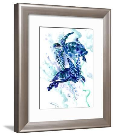 Sea Turtle 2-Suren Nersisyan-Framed Art Print