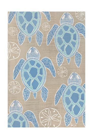 Sea Turtle 2-Shanni Welsh-Art Print