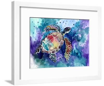 Sea Turtle 3-Suren Nersisyan-Framed Art Print