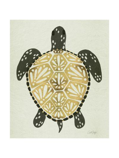 Sea Turtle in Black and Gold-Cat Coquillette-Giclee Print