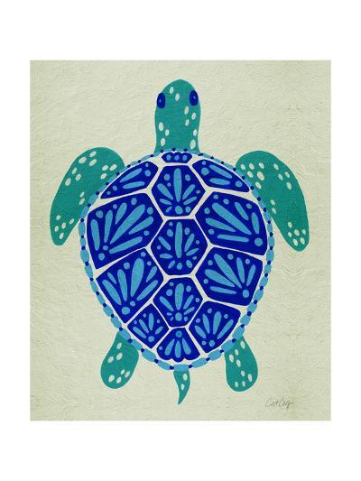 Sea Turtle in Blue– Cat Coquillette-Cat Coquillette-Giclee Print