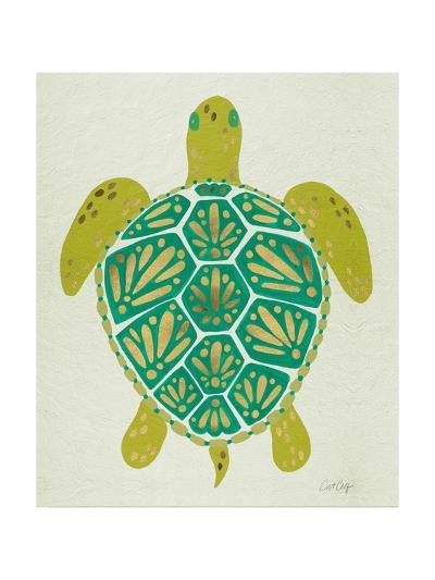 Sea Turtle in Lime-Cat Coquillette-Giclee Print