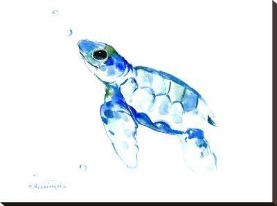 Sea Turtle-Suren Nersisyan-Stretched Canvas Print