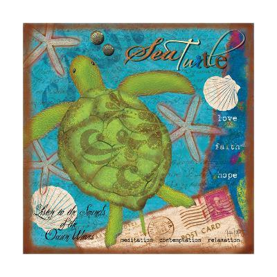 Sea Turtle-Victoria Hutto-Art Print