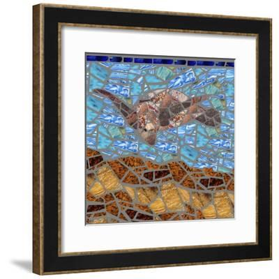 Sea Turtle-Jonathan Mandell-Framed Giclee Print