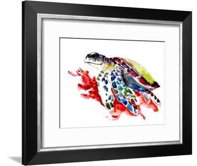 Sea Turtles 2-Suren Nersisyan-Framed Art Print