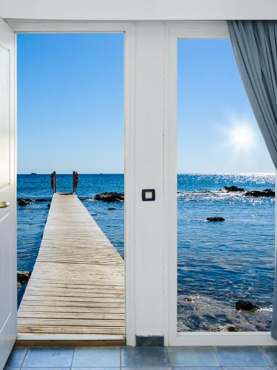 Sea View from the Pier-Dmitry Bruskov-Photographic Print