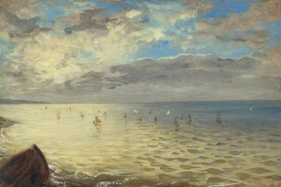 Sea Viewed from the Heights of Dieppe, 1852-Eugene Delacroix-Giclee Print