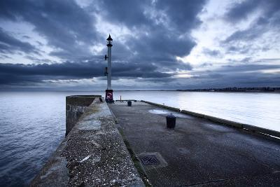 Sea Wall and Harbour Light at Bridlington, East Riding of Yorkshire, England, United Kingdom-Mark Sunderland-Photographic Print