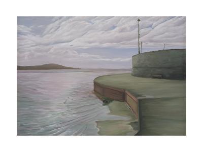 Sea Wall at Weston Looking Towards Breen Down, 2006-Peter Breeden-Giclee Print