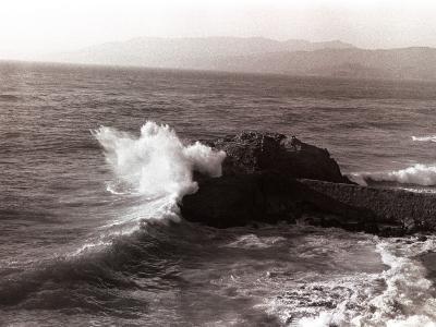 Sea Waves Crashing Against Rock-George Marks-Photographic Print