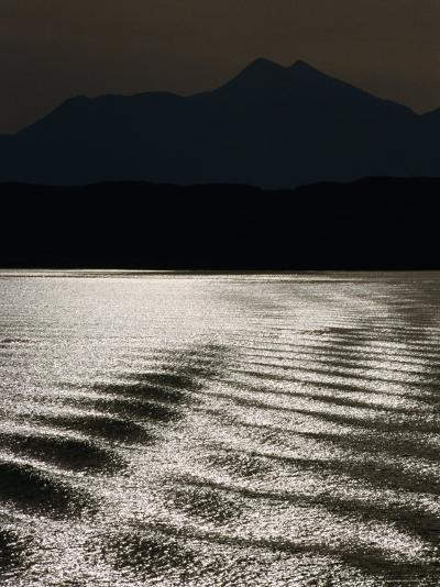 Sea with Highlands in Background, United Kingdom-Martin Moos-Photographic Print