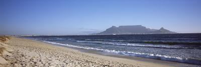 Sea with Table Mountain in the Background, Bloubergstrand, Cape Town, Western Cape Province, South --Photographic Print
