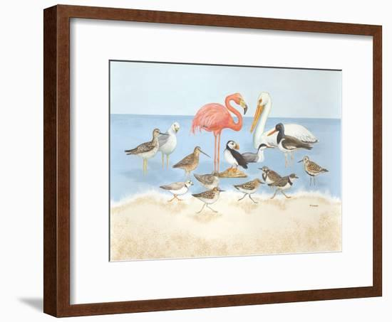 Seabird Summit-Wendy Russell-Framed Art Print