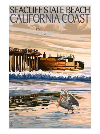 Seacliff State Beach, California Coast-Lantern Press-Art Print