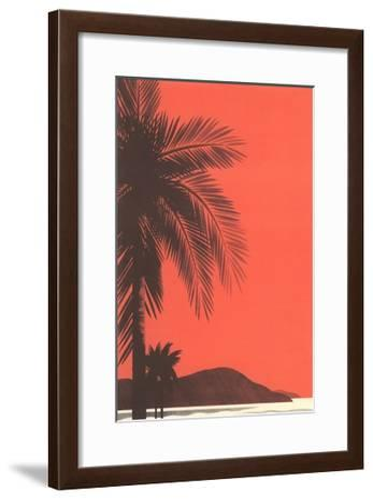 Seacoast at Dusk-Found Image Press-Framed Giclee Print