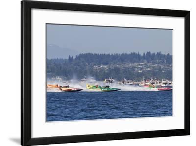 SEAFAIR, Vintage Hydroplane Races, Lake Washington, Seattle, Washington, USA-Jamie & Judy Wild-Framed Photographic Print