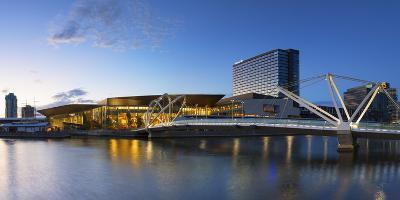 Seafarers Bridge and Convention Centre at Dawn, Melbourne, Victoria, Australia, Pacific-Ian Trower-Photographic Print
