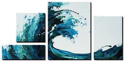 Seafoam Wave-Sydney Edmunds-Canvas Art Set