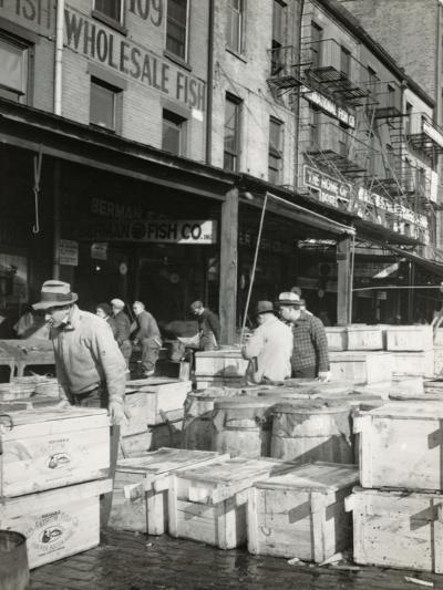 Seafood by the Crate, Fulton Fish Market--Photographic Print