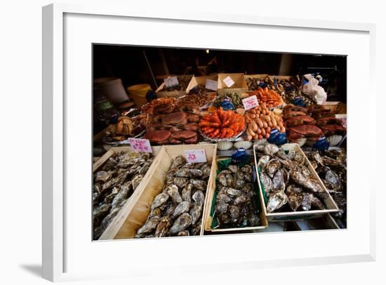 Seafood for Sale on Display in Paris, France-Chris Bickford-Framed Photographic Print