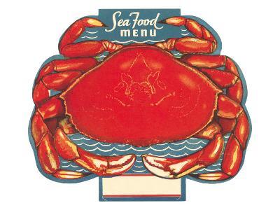 Seafood Menu, Crab--Art Print